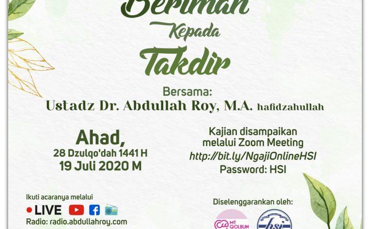 Beriman Kepada Takdir-DR. Abdullah Roy